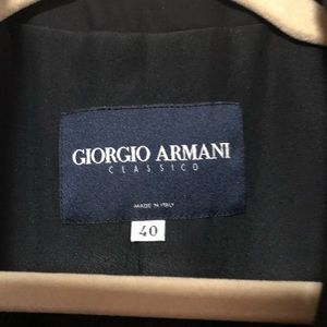 Giorgio Armani classic fitted, one button blazer.